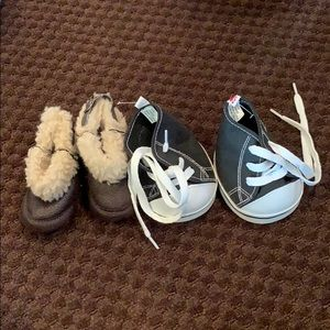 2 pairs of lightly used build-a-bear shoes